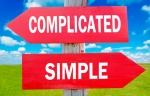 Complicated or simple sign